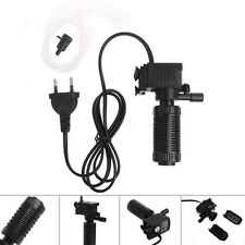 Mini 3 in 1 Aquarium Internal Filter Fish Tank Oxygen Submersible Pump Spray EU