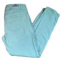 LC Lauren Conrad Womens 6 Skinny Ankle Jeans Mint Green Stretch Denim Pants