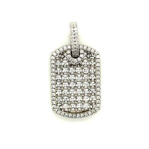 Sterling Silver .925 with Cubic Zirconia Dog Tag Pendant