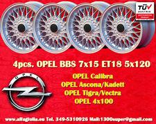 4 Cerchi BBS OPEL 7x15 4x100 ET24 E30 1502-2002 E21 Wheels Felgen Jantes TUV