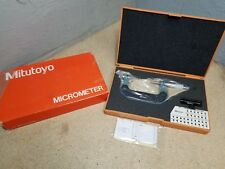 New Mitutoyo 50 75mm 001mmscrew Thread Pitch Micrometer Without Anvils