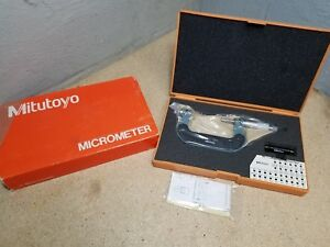 * NEW* Mitutoyo 50-75mm / 0.01mmScrew Thread Pitch Micrometer without Anvils
