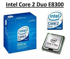 Intel Core 2 Duo E8300 SLAPN Dual Core Processor 2.83GHz, Socket LGA775, 65W CPU