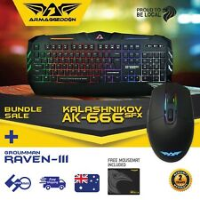 【Gaming Keyboard+Mouse Combo】ARMAGGEDDON Colour Backlight Bundle with Mousemat