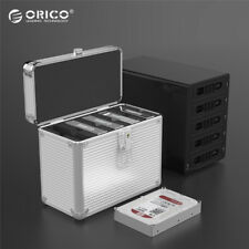ORICO Aluminum 5 Bay 3.5'' Carrying Case HDD Hard Disk Drive Protection Box HQ