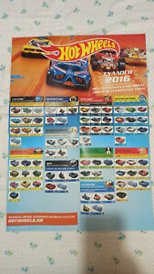 NEW Hot wheels 2016 promotion wall poster advertisement