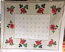 Vintage Floral Tablecloth Rectangular 126cm x 148cm 🍃