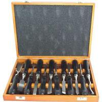 WOOD CARVING PROFESSIONAL CHISEL SET 12PC WITH WOODEN CASE CARPENTERS TOOL UK