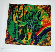 """Rainbow Family """"Welcome Home"""" Blotter Art double sided 900 square acid art"""