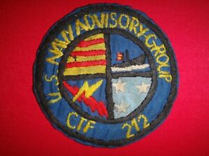 Vietnam War Hand Made Patch US NAVY ADVISORY GROUP CTF-212