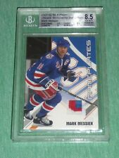01-02 BAP Ultimate Memorabilia MARK MESSIER 29/50 3CLR Nameplates Patch BGS 8.5