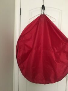 Santa's Bags Wreath Holder Storage 32 inch Bag Holiday Christmas Red