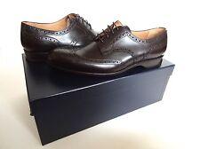 New Ralph Lauren Collection Dark Brown Leather Chapman Wingtip Oxford Shoes 9 D