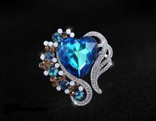 Modeschmuck-Halsketten & -Anhänger aus Kristall mit Herz-Perlen