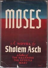 Moses : A Novel by Sholem Asch (1951) HC/DJ 1ST/1ST~VINTAGE~CHRISTIAN FICTION