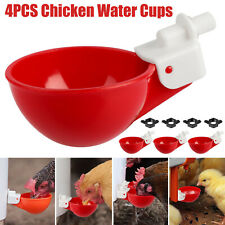 4 Chicken Automatic Watering Cups Poultry Drinker Waterer Chicken Duck Quail Hen