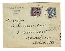 Français Océanie Postal Envelope-Hg :B2b Uprated-Sc #6-PAPEETE 26 / Aout /
