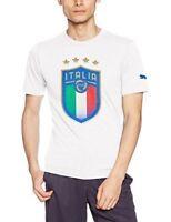 PUMA FIGC ITALIA BADGE TEE TEAM WHITE T-SHIRT TIFOSO ITALIA BLU 752613 02 BIANCO