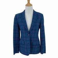 Vintage Pendleton Wool Blazer Women's Size S/M Plaid 2 Button Notch Lapel *READ