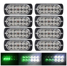 8x 12LED Car Truck Emergency Warning Hazard Flash Strobe Light Bar White Green