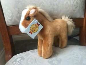 DOWMAN 22cm GINGER HORSE SOFT TOY PLUSH NEW TAGS