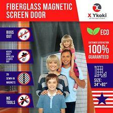 MAGNETIC SCREEN DOOR – Screen Door Curtain with Magnets New 2018 Bug Screen...