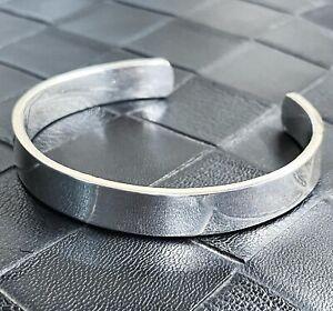 Heavy Solid 999 Pure Silver Torque Bangle Bracelet 10mm Wide