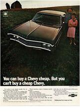 1969 Chevrolet Chevy IMPALA Black Sport Coupe Vintage Print Ad