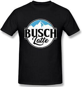 Busch Light Busch Latte Men's Classic Unique T Shirt Comfortable Short Sleeves B