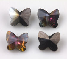 Faceted Glass Crystal Butterfly Loose Spacer Bead Findings Jewelry Making DIY