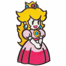 Princess Peach Queen Super Mario Cartoon Game Girl Kids Iron-On Patches #C103