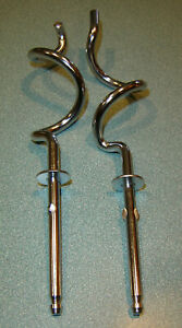 """Dough hooks - Unknown brand, Hand beater / mixer  Measure 8""""  Exc Cond."""