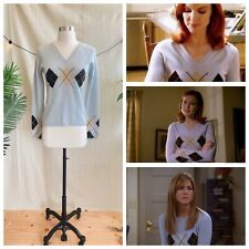 New listing Early 00s Aso Bree Desperate Housewives Alt Rachel Friends Argyle Blue Sweater M
