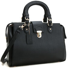 New Dasein Womens Handbags Leather Satchels Shoulder Bags Front Snap Lock Purse