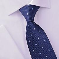 """Blue American Regimental Striped 8cm Tie 3.15"""" Necktie Everyday Checkered Style"""
