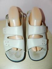 Hotter Easy cream leather sandals with fasteners uk 7.5 eur 41.5