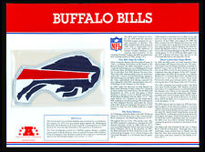 BUFFALO BILLS ~ NFL TEAM EMBLEM PATCH COLLECTION + STAT CARD ~ Willabee & Ward