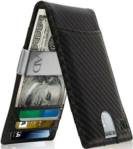 Slim Wallets For Men With Money Clip Bifold Wallet RFID Card Holder Mens Wallets