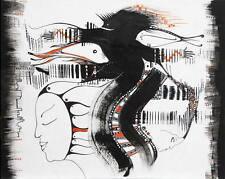 """Abstract Graphic """"Urban Jazz"""" / Original Ink on Cardboard by Xenia Hahonina"""