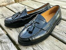 Cole Haan Black Loafers Pinch Tassel Shoes 03506 8.5 E Wide 8.5 New Slip-ons
