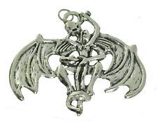 HOT Sterling Silver 925 Sinister Wing Skeleton Demon holding Female Halloween Ch