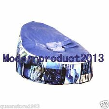 Free ship Bule PVC Baby infant Bean Bag Snuggle Bed 2 upper layers No Filling