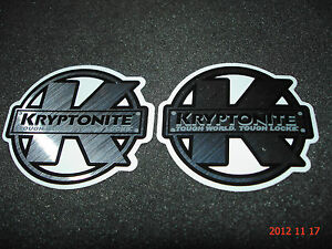 darker yellow Bicycle Cycling Sticker Decal Kryptonite