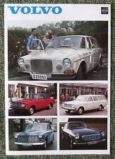 VOLVO RANGE SALES SHEET (INC 1800S) 1969 REF- 3585