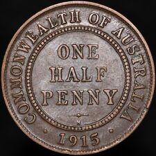 More details for 1915 h | australia george v one half penny 'key date' | bronze | km coins