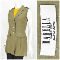 Womens Marella by Max Mara 100% Pure Linen Blouse Shirt Green Size IT44 / UK14