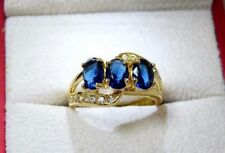 Oval Sapphire Yellow Gold Filled Costume Rings