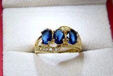 Oval Sapphire Three-Stone Costume Rings