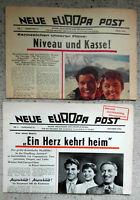 """2 Ausgaben der """"Neue Europa Post"""" Liselotte Pulver Paul Hubschmid....1956/57"""