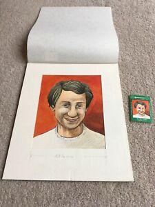 1978 Original Artwork Ossie Ardiles Tottenham Hotspur used by Cornish Match Co